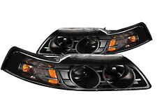 Anzo 121042 Projector Headlights Black Clear Lens for 99-04 Ford Mustang