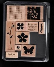 Stampin' Up! Wood Mount Stamp Set For All You Do