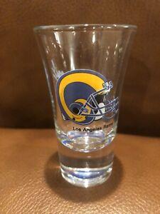"Vtg 90's NOS  Papel L.A. Los Angeles Rams shot glass NFL Football 3 1/2"" Tall"