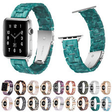 Turquoise Green Resin Watch Strap for Apple Watch Band Series 6 5 4 3 2 Bracelet