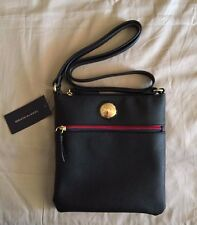 NEW Tommy Hilfiger Women's NS crossbody, black, with red and dark blue chains