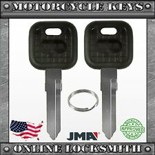2 New Uncut Key For Kawasaki Ducati Cagiva Triumph Motorcycles Keyway Kw14