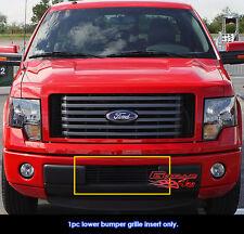 Fits Ford F150 F-150 Pikcup Bumper Black Billet Grill Insert-Fits 2009-2014