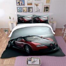 3D Racing Car Duvet Cover Quilt Cover UK Hot Bedding Set Pillow Cases All Sizes