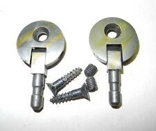 Vintage Singer Sewing Machine Cabinet Head Pin Hinges 1 Hole Pewter Finish Nice