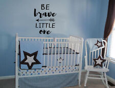 BE BRAVE LITTLE ONE VINYL WALL LETTERING ARROWS BABY DECAL BABY NURSERY STICKER