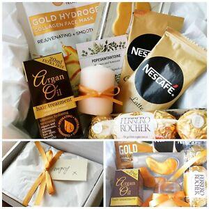 Pamper Hamper Gold Present Gift ladies for her birthday womens luxury