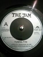 "The Jam – Funeral Pyre Vinyl 7"" Single UK POSP 257 1981 Mod Rock"