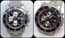PHIGIED-Chronograph Quartz-Sub Diver 100m-Miyota Movement-All stainless Steel-