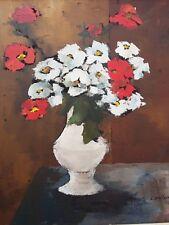 """Tableau, Peinture, HST, G.D'AVIGNON, """"bouquet de fleurs"""