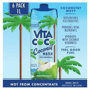 Vita Coco Coconut Water Original 1 Liter 6 Per Case 33.8 Fl Oz
