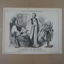 """7x10"""" punch cartoon 1867 A CHANGE FOR THE BETTER"""