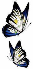 Par Mariposas Diseño & Rosa Yorkshire York Condado Bandera vinilo para coche