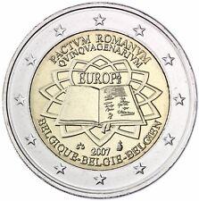 Belgien 2 Euro Römische Veträge Gedenkmünze 2007 bankfrisch