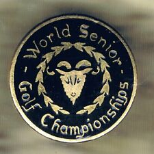 WORLD SENIOR GOLF CHAMPIONSHIPS ENAMEL BADGE