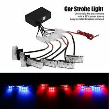 Car 18LED Amber Strobe Emergency Flashing Police Warning Grill Light 12V 3W US