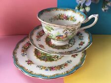 "Vintage ROYAL ALBERT BONE CHINA ""Chelsea Bird"" TEA SET TRIO-Tasse, Soucoupe, Assiette"