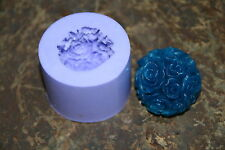 ROSES Candle Mold/Mould (covered in roses) Silicone-  w ~ 50 grams 3.8 x 4 cm