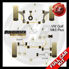 VW Golf MK5 Plus 5M (03-09) Powerflex Black Complete Bush Kit