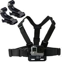 Chest Strap Harness Mount Adjustable GoPro HD Hero 1 2 3 3+ 4 Camera & 2x J Hook