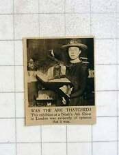 1919 Exhibit Of Thatched Noah's Ark