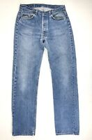 Vintage USA LEVIS 501 0115 Faded Distressed Cowboy Rocker Denim Jeans 34 x 34