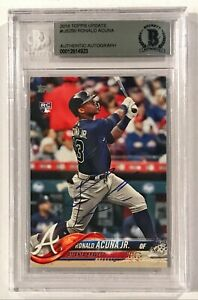 2018 Topps Update Ronald Acuna Jr Rookie RC #US250 Signed Auto Card BAS Beckett