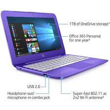 HP Stream 11.6 Inch Intel Celeron 1.6GHz 2GB 32GB Windows Laptop - Purple 11-y00