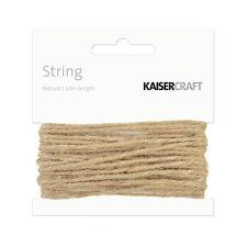 Kaisercraft String Natural 10m - Card making Embellishments Scrapbooking Kaiser