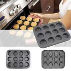 6/12 Cups Mini Muffin Bun Cupcake Baking Bakeware Mould Tray Pan/mold Kitchen  N