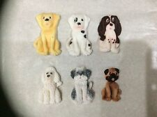 Edible sugar paste cake decorations/toppers dogs
