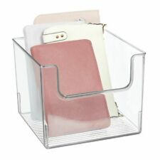 mDesign Plastic Closet Home Storage Organizer Cube Bin Container - Clear