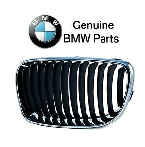 For BMW E82 E88 128i 135i Driver Left Front Chrome Grille w/ Black Grill Genuine