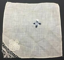 Vintage White Bridal Wedding Hanky W/ Crocheted Corner - NWT