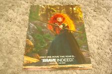 BRAVE Oscar ad Merida with bow arrow, Disney Pixar & TIM BURTON'S FRANKENWEENIE