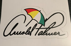 "Arnold Palmer Sticker Decal Umbrella Furniture - 3.8"" wide - Free Shipping"