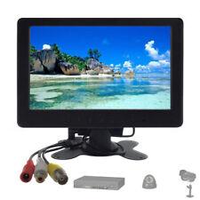 "Portable 7"" TFT LCD Monitor Display HD BNC AV 1024*600 Home CCTV Security Screen"