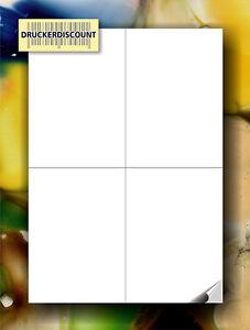 DIN A4 - 100 Blatt 4 * 105 x 148mm Etiketten UPS,DHL & DPD Versandetiketten