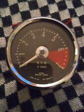 Vintage Smiths 80mm Rev Counter / Tachometer & Bracket