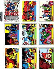 Marvel The Avengers Silver Age 100 card base set +P1  PROMO