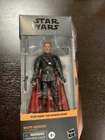 STAR WARS BLACK SERIES THE MANDALORIAN MOFF GIDEON HASBRO FIGURE IN HAND