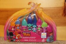 TROLLS HTF 8 Pack Collection Dolls Figures Minis Rare Walmart Exclusive DW Movie