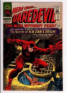 Daredevil 13 - Early Kazar - Silver Age Classic - 6.5 FN+