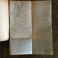 D Manuscrito ' Adolphe Willette Elogio A Henri Detouche,Firmada