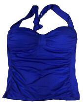 New listing Tommy Bahama Halter Tankini Swim Top Purple Side Ruched Swimwear Small Petite