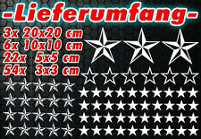 85 Sterne Star Auto Aufkleber Set Sticker Tuning Shirt Stylin WandtattooTribel u