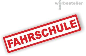 Saugnapfschild 30x6cm FAHRSCHULE Autoschild KFZ-Innenschild  Aluverbundplatte