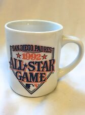 San Diego Padres 1992 All Star Baseball Game Set of 2 white cups mugs 9KUSI-TV51