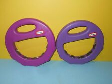 Pair of Little Tikes Purple Tambourines 8� In Diameter Musical Instruments Toys