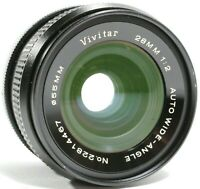 Vivitar 28mm F2 Auto Wide Angle Prime Lens for Canon FD with Caps UK Fast Post